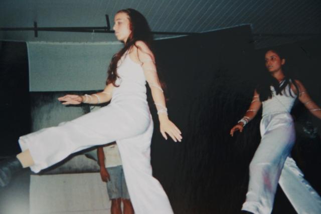 Apresentando na I Mostra Espírita de Dança em Araras/SP
